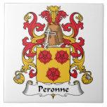 Escudo de la familia de Peronne Tejas