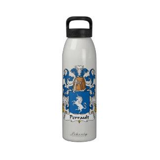 Escudo de la familia de Perrault Botella De Agua
