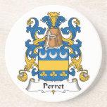 Escudo de la familia de Perret Posavasos Diseño