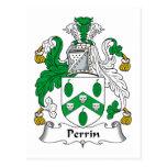Escudo de la familia de Perrin Postal