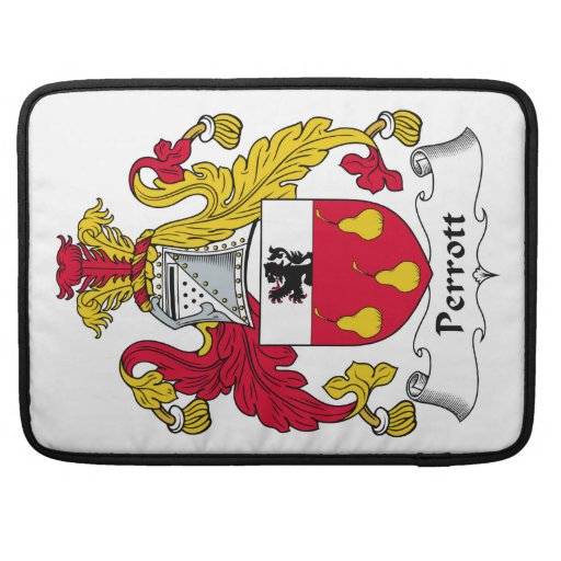 Escudo de la familia de Perrott Funda Macbook Pro