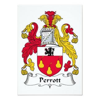 Escudo de la familia de Perrott Comunicado Personal