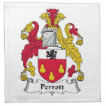 Escudo de la familia de Perrott Servilleta De Papel