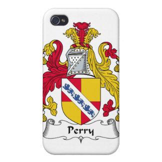 Escudo de la familia de Perry iPhone 4 Funda