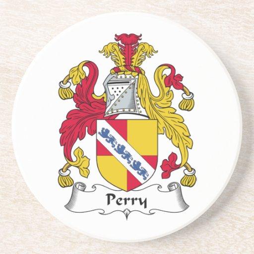 Escudo de la familia de Perry Posavasos Diseño