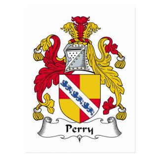 Escudo de la familia de Perry Postales
