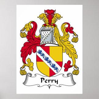 Escudo de la familia de Perry Póster