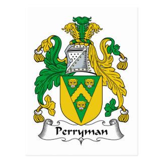 Escudo de la familia de Perryman Tarjeta Postal