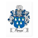 Escudo de la familia de Peruzzi Tarjetas Postales