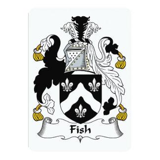 """Escudo de la familia de pescados invitación 5"""" x 7"""""""