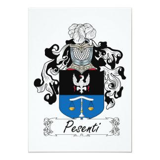 """Escudo de la familia de Pesenti Invitación 5"""" X 7"""""""