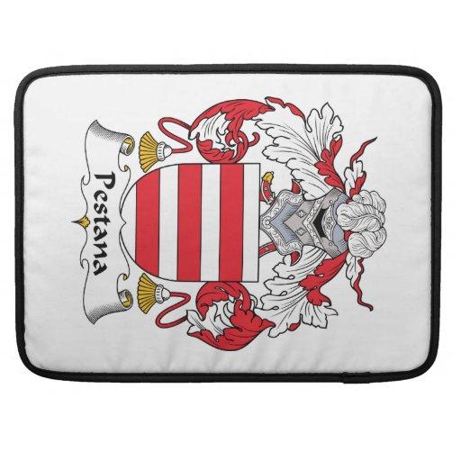 Escudo de la familia de Pestana Fundas Para Macbooks