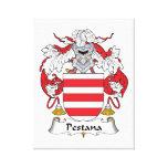 Escudo de la familia de Pestana Impresion De Lienzo