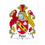 Escudo de la familia de Peter Postales