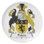 Escudo de la familia de Peters Plato Para Fiesta