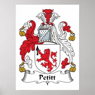 Escudo de la familia de Petitt Impresiones