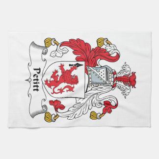 Escudo de la familia de Petitt Toallas De Mano