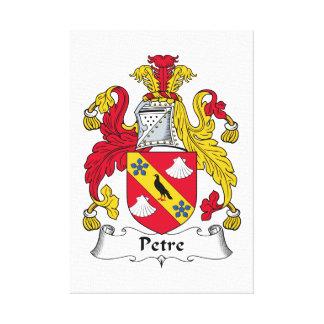 Escudo de la familia de Petre Lienzo Envuelto Para Galerías