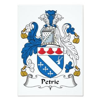 Escudo de la familia de Petrie Invitación 12,7 X 17,8 Cm