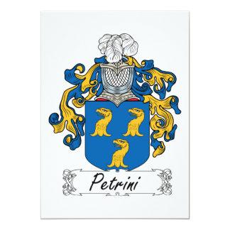 """Escudo de la familia de Petrini Invitación 5"""" X 7"""""""