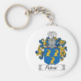 Escudo de la familia de Petrini Llavero Redondo Tipo Pin