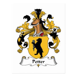 Escudo de la familia de Petter Postales