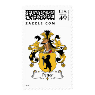 Escudo de la familia de Petter Sellos Postales
