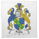Escudo de la familia de Pettie Servilletas Imprimidas
