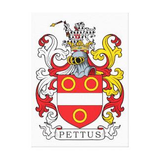 Escudo de la familia de Pettus Lona Envuelta Para Galerías