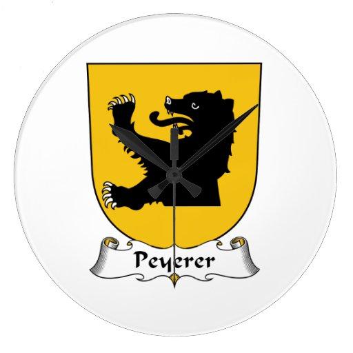Escudo de la familia de Peyerer Reloj Redondo Grande
