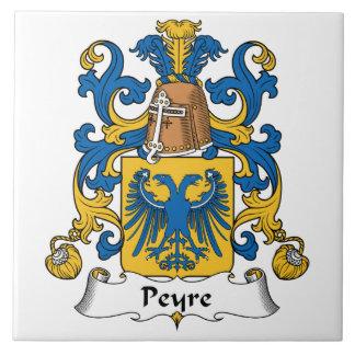 Escudo de la familia de Peyre Azulejo Cuadrado Grande