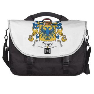 Escudo de la familia de Peyre Bolsas De Portátil