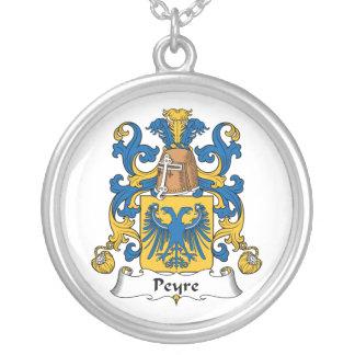 Escudo de la familia de Peyre Colgante Redondo