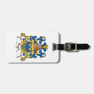 Escudo de la familia de Peyre Etiquetas Para Equipaje