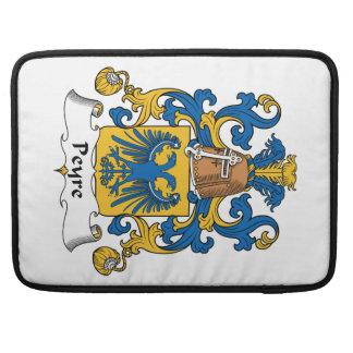 Escudo de la familia de Peyre Fundas Para Macbooks