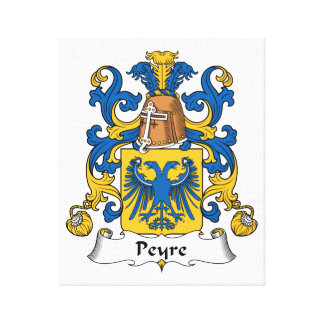 Escudo de la familia de Peyre Lienzo Envuelto Para Galerias