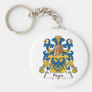 Escudo de la familia de Peyre Llavero Redondo Tipo Pin