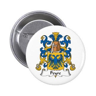 Escudo de la familia de Peyre Pin Redondo 5 Cm