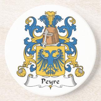 Escudo de la familia de Peyre Posavasos Para Bebidas