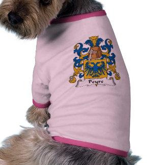 Escudo de la familia de Peyre Camiseta Con Mangas Para Perro