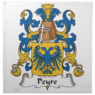 Escudo de la familia de Peyre Servilletas