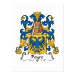 Escudo de la familia de Peyre Tarjetas Postales