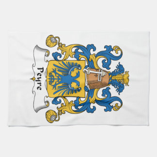 Escudo de la familia de Peyre Toalla De Mano
