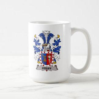Escudo de la familia de Pfeiff Taza De Café
