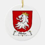 Escudo de la familia de Pfirter Ornamentos Para Reyes Magos