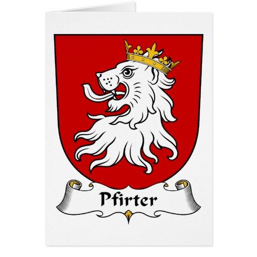 Escudo de la familia de Pfirter Tarjeton