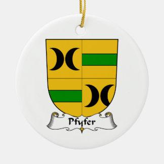 Escudo de la familia de Pfyfer Adorno Navideño Redondo De Cerámica