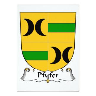 """Escudo de la familia de Pfyfer Invitación 5"""" X 7"""""""