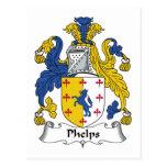 Escudo de la familia de Phelps Postal