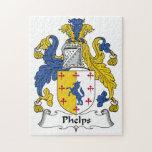 Escudo de la familia de Phelps Puzzle
